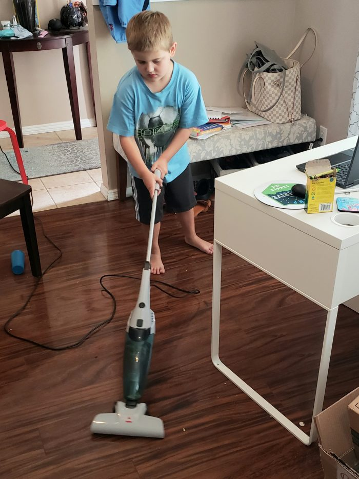 6 year old using Bissell 3-in-1 vaccum