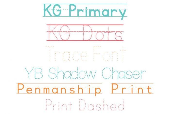 Penmanship font names in branded colors
