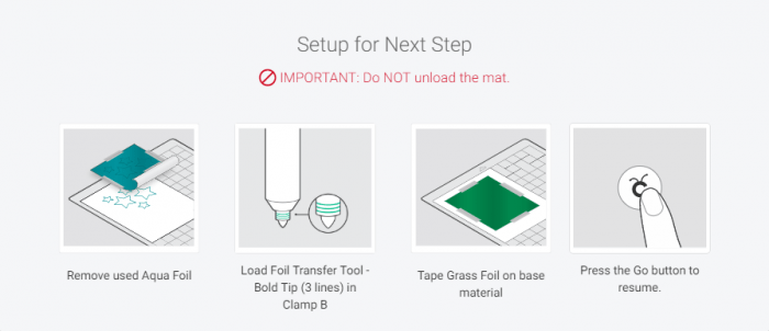 Remove Aqua Foil and change foil tip and add green foil