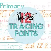 12 of the Best Free Tracing Fonts graphic of all the font names