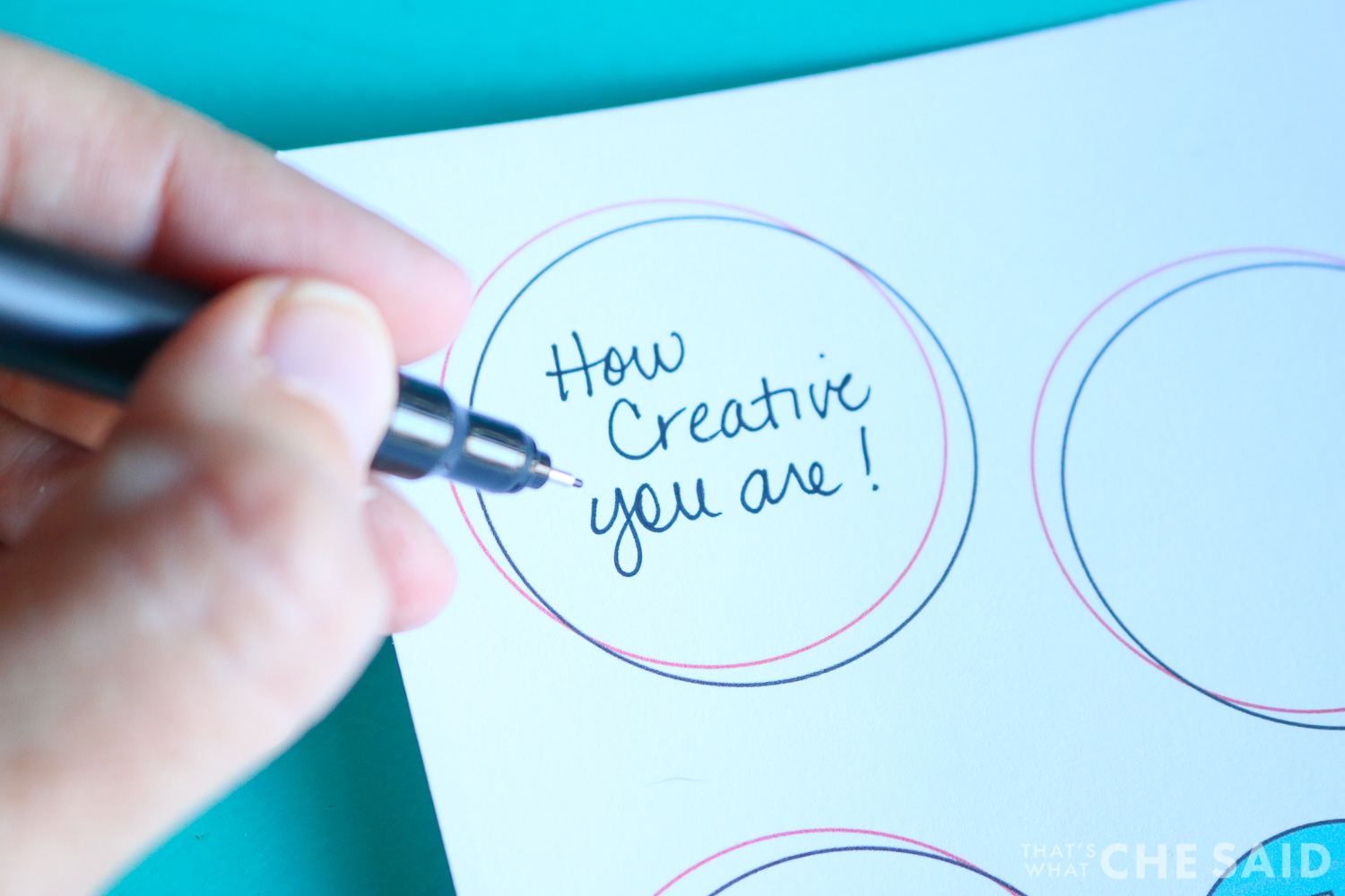 Writing the 14 reasons I love about you on the printable