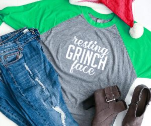 Resting Grinch Face Free Cut File