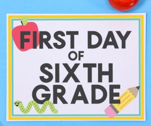 In-School - First Day of School Signs