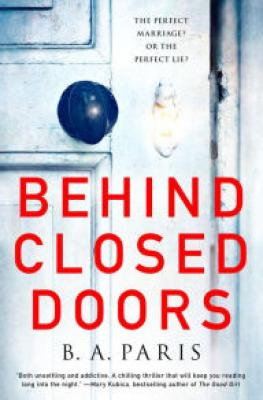 Book Review – Behind Closed Doors by B. A. Paris