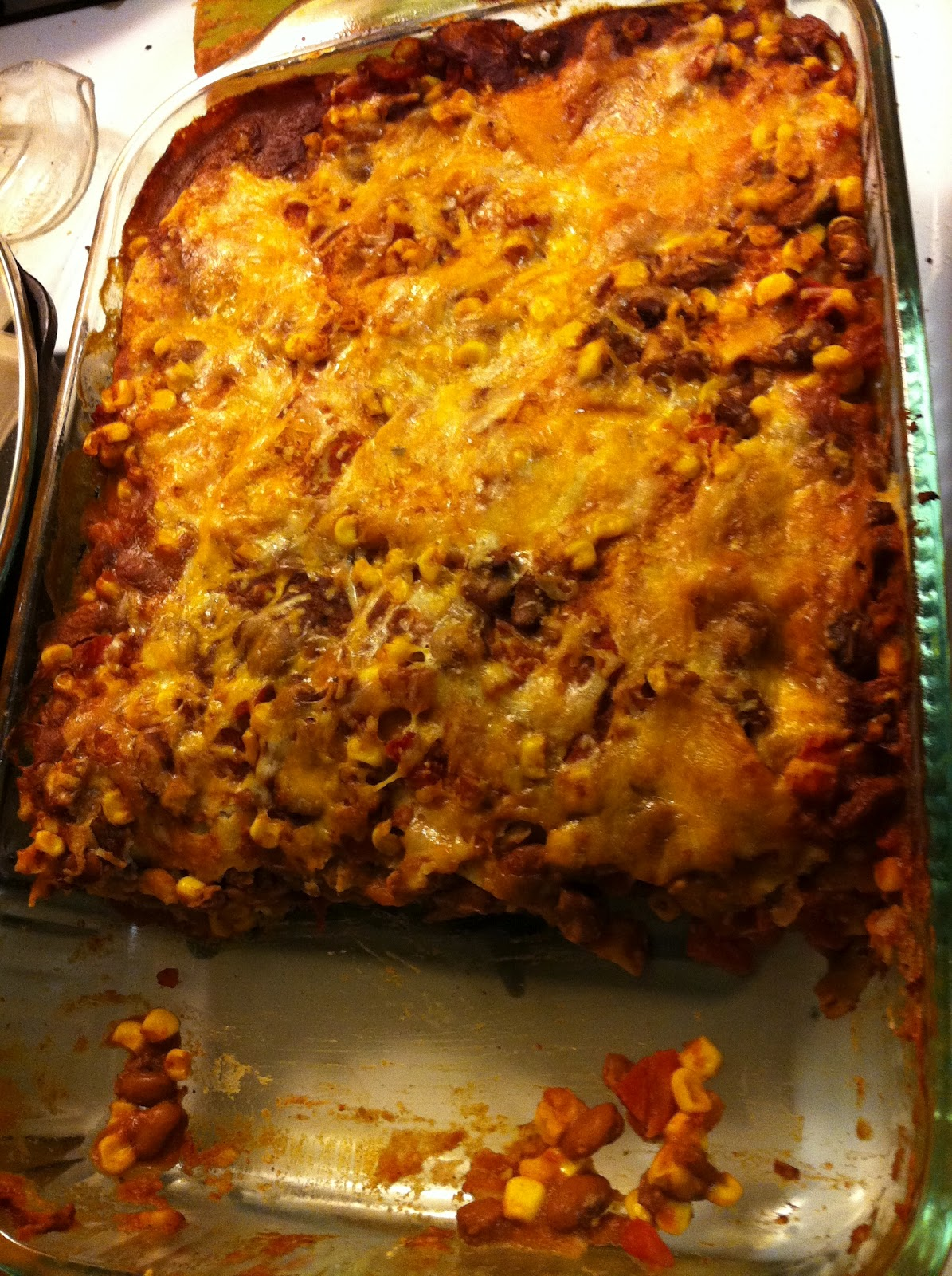 Spicy Bean Enchilada Casserole and Homemade Enchilada Sauce