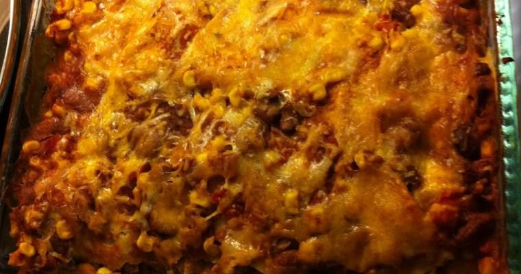 Spicy Bean Enchilada Casserole and Homemade Enchilada Sauce