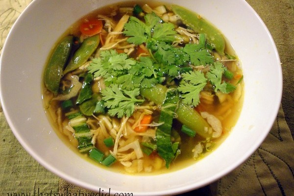 Ginger Chicken Soup for Chilly Weather