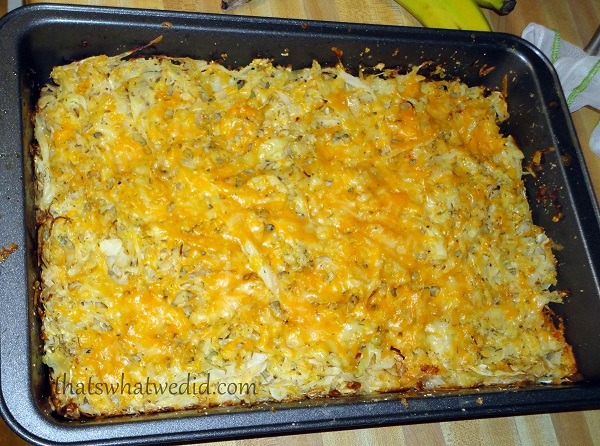 Cabbage and Cheddar Gratin