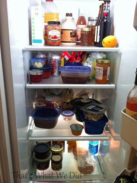 fridge organization press'n seal on fridge shelves