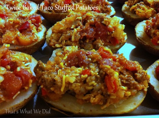 Twice Baked Taco Stuffed Potatoes