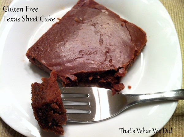 Easy Gluten Free Texas Sheet Cake