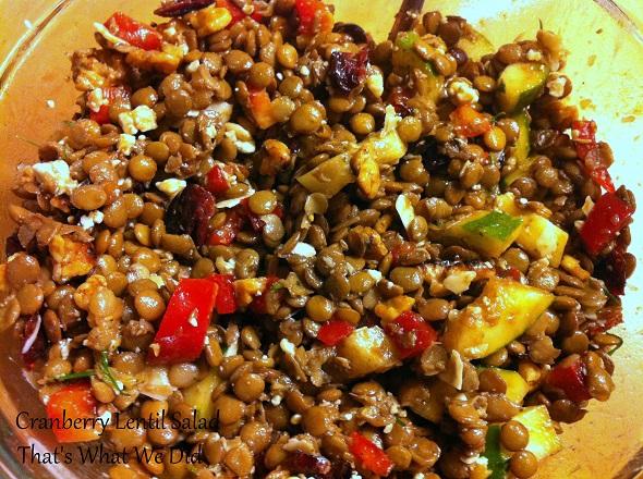 cranberry lentil salad 2