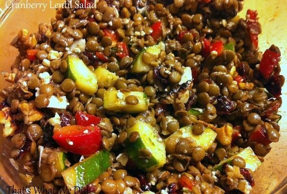Cranberry Lentil Salad