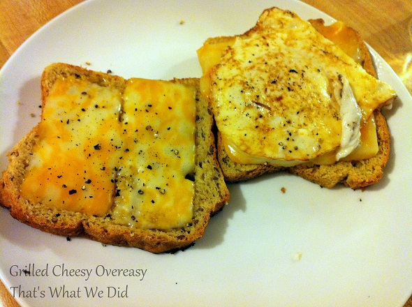 grilled cheesy open