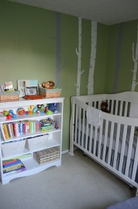 nursery crib and case