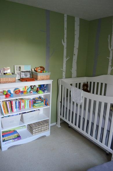 nursery crib and case