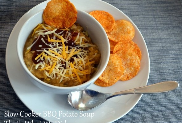Slow Cooker BBQ Potato Soup