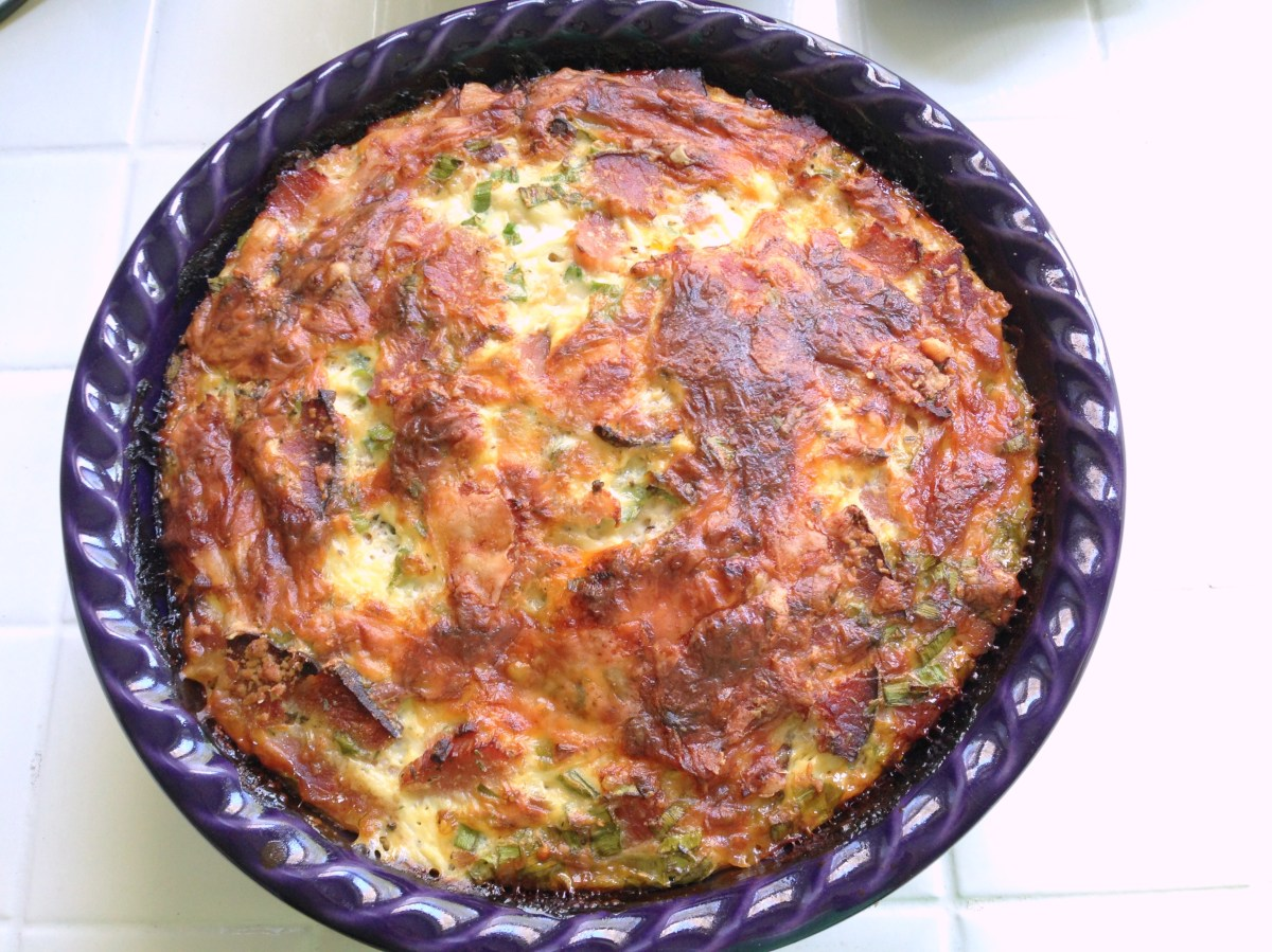 Ham and Green Onion Quiche