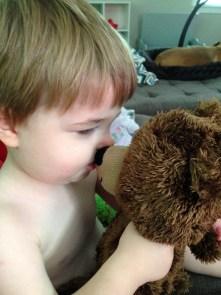 jenson kissing bear