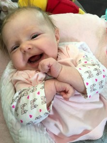 marlowe smiling 3 months
