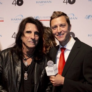 Tom Hatton With Alice Cooper in NY