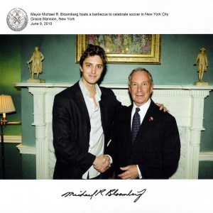 Tom Hatton with former New York Mayor Michael Bloomberg, NY