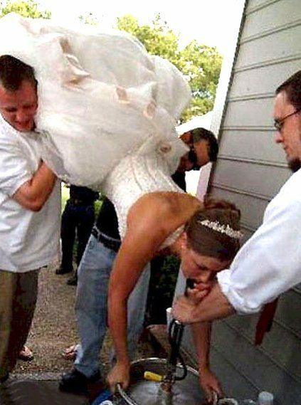 Redneck wedding reception