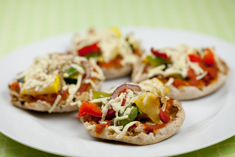 Easy Vegan English Muffin Pizzas