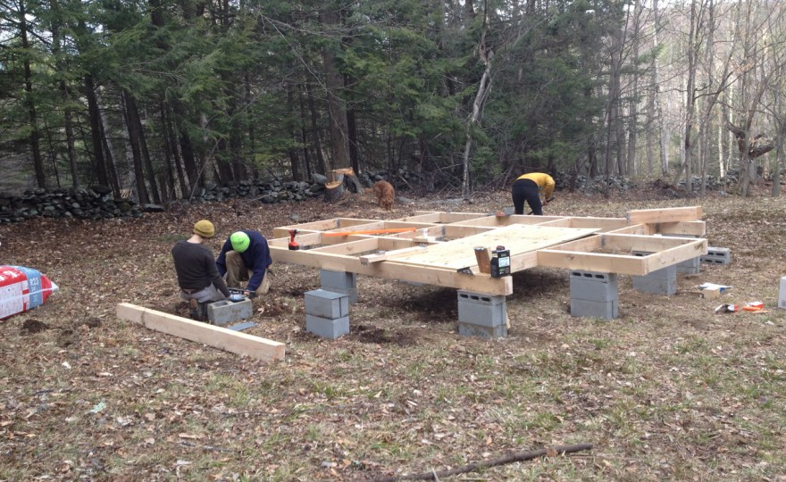 Building the Yurt Platform #1: Foundations, Beams, Blocking