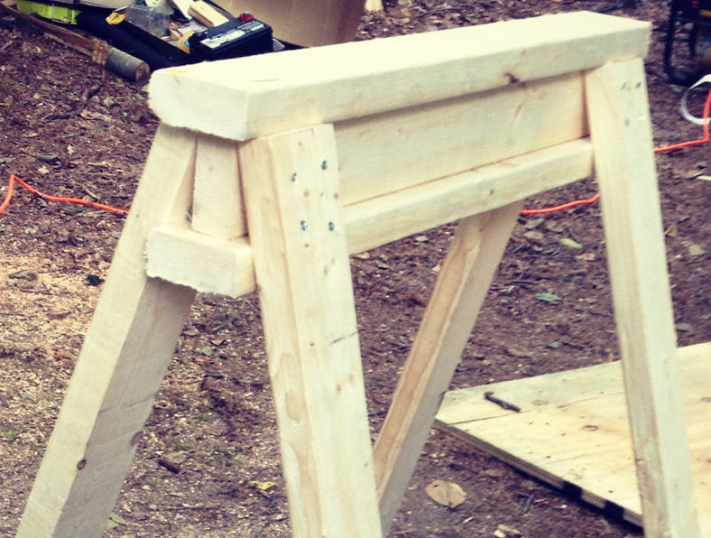 Cheap and simple sawhorses,