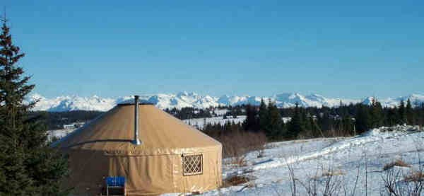 A yurt from Nomad Shelter in Alaska.
