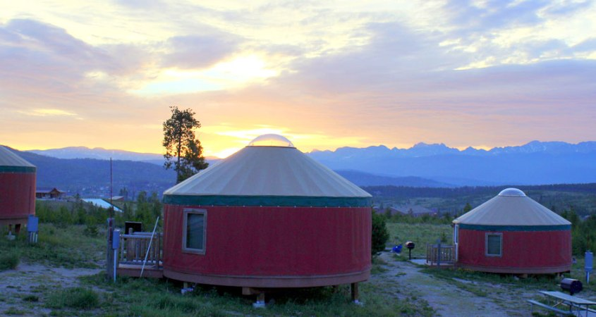 Yurts from the Colorado Yurt Company.