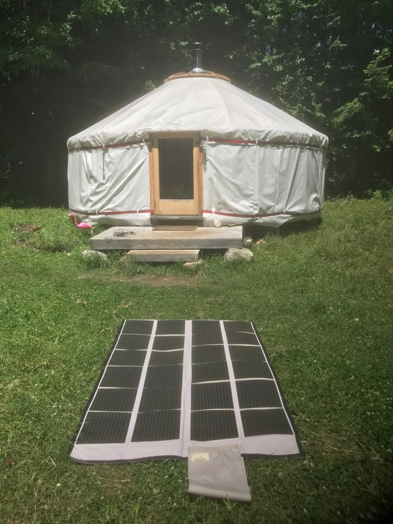The 120W Foldable Solar Panel from PowerFilm Solar.