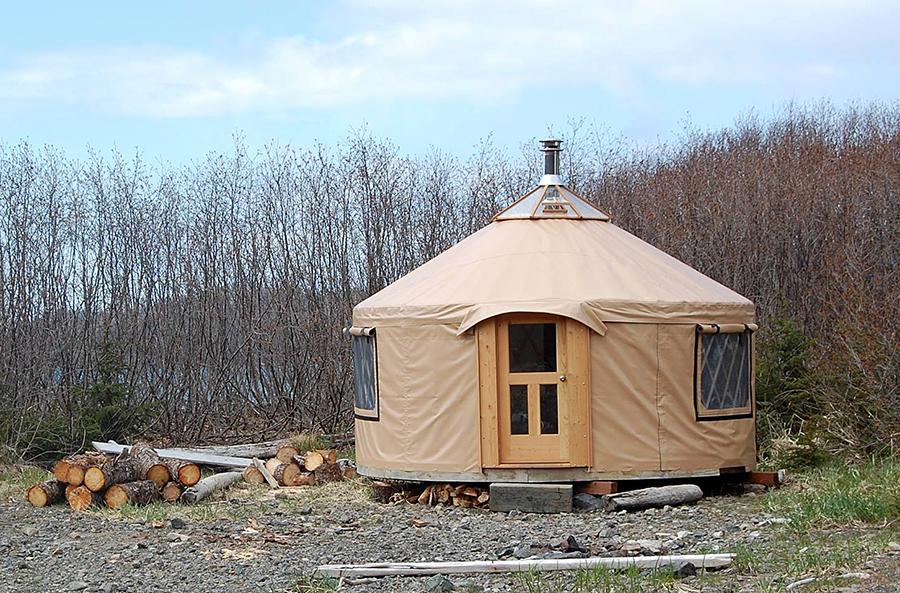 A yurt from Nomad Shelter in Homer, Alaska.