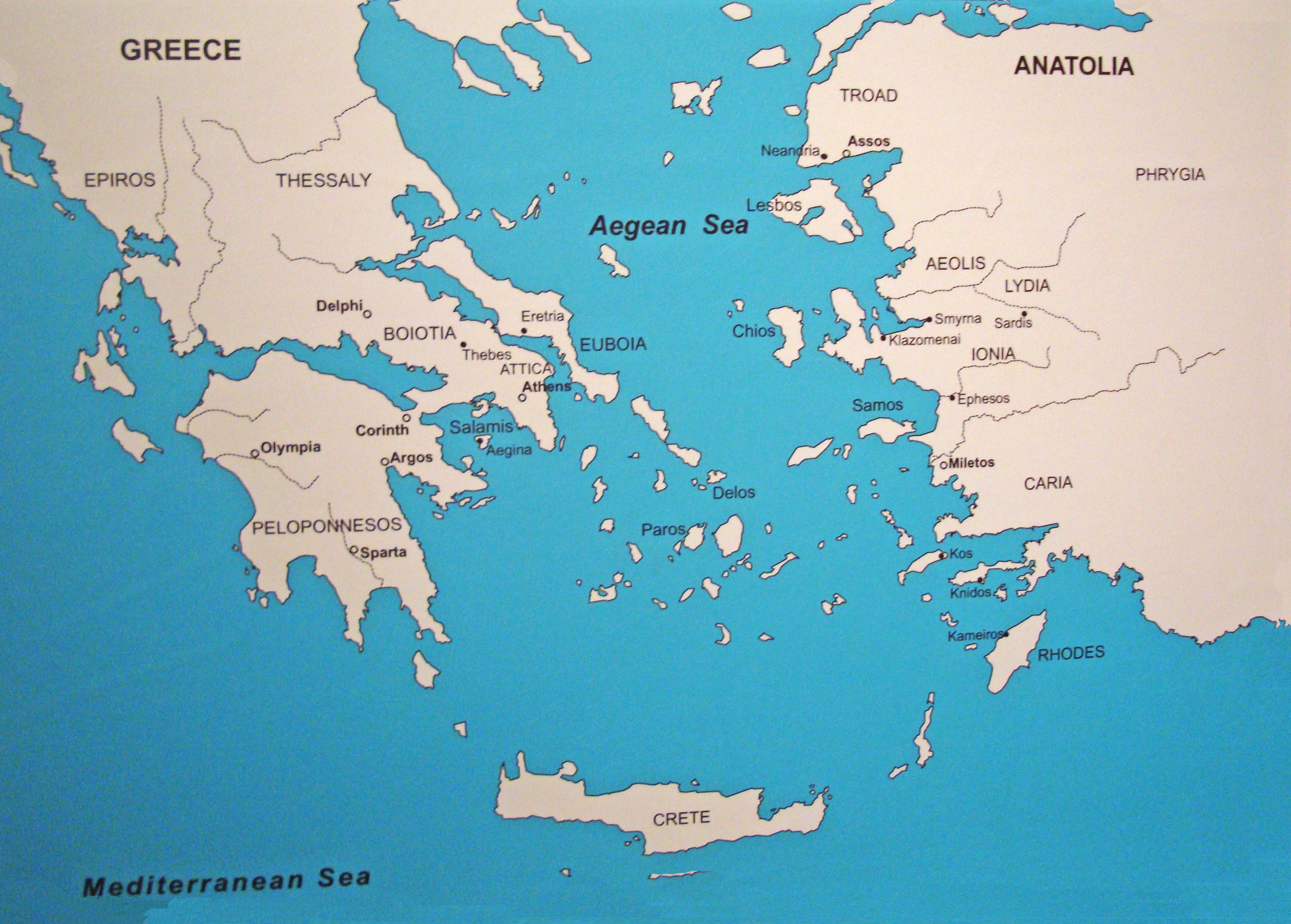 Ancient Greece Maps For Students