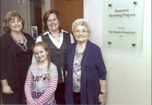 All four generations at the Beaumont Parenting Program Opening
