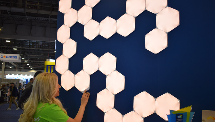 hexagons and lights