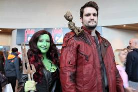 Gamora, Peter and Baby Groot by Pixie Styxx and Redwood Creations image by Chelsea Kiernan