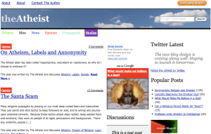 The New Atheist Blog Screenshot