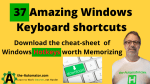 37 Amazing Windows Keyboard shortcuts