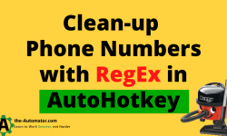 Clean Phone numbers with