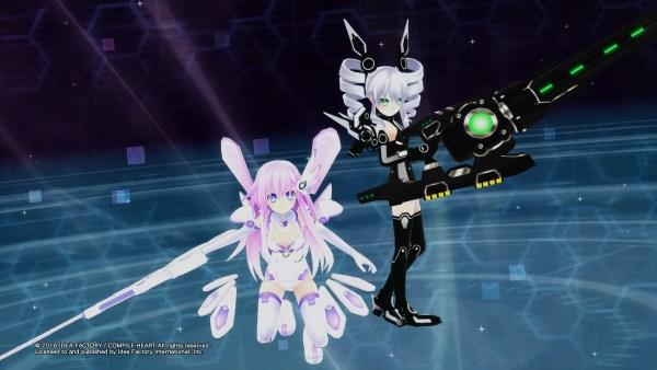 Megadimension Neptunia VII Purple Sister and Black Sister