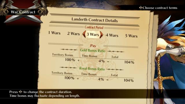 Grand Kingdom Contract Screen