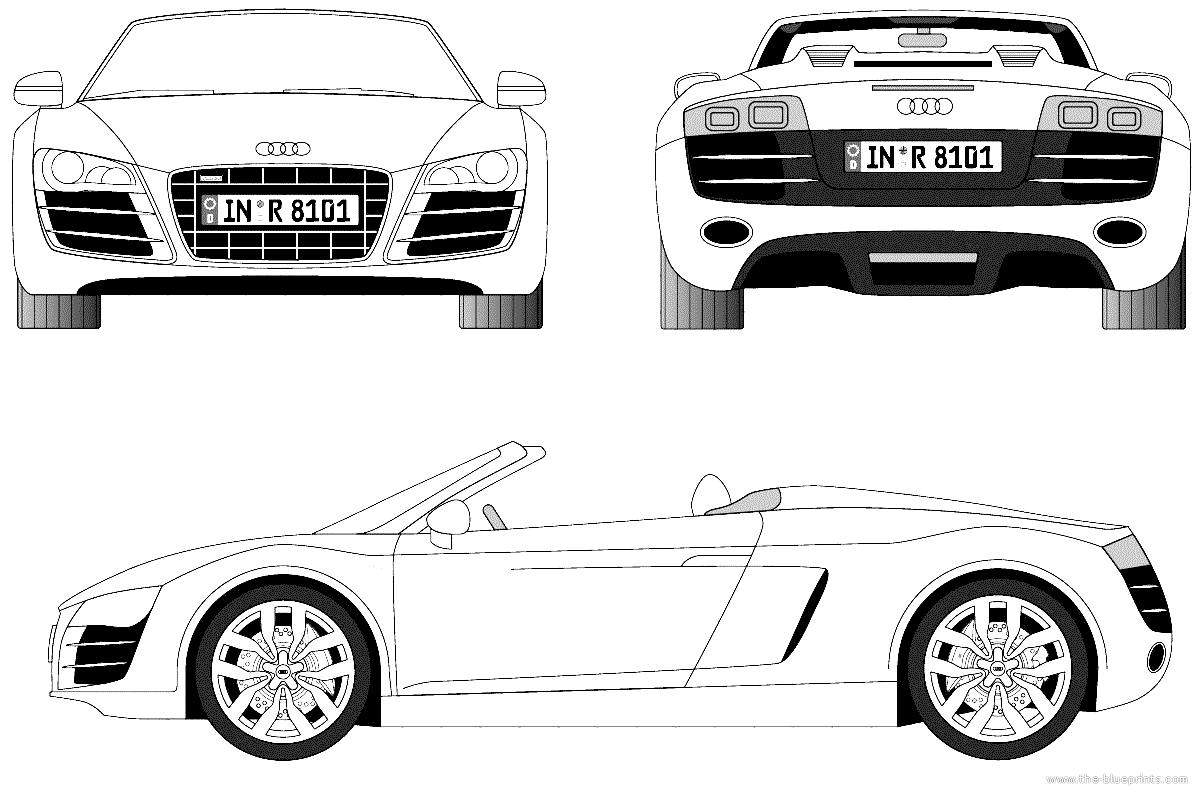 Blueprints Gt Cars Gt Audi Gt Audi R8 Spider