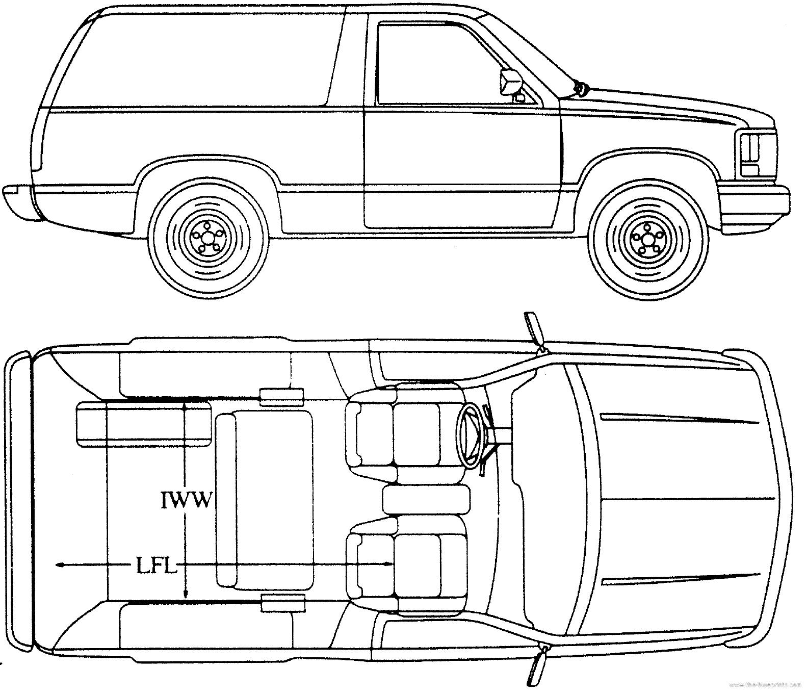 Blueprints Gt Cars Gt Chevrolet Gt Chevrolet Blazer