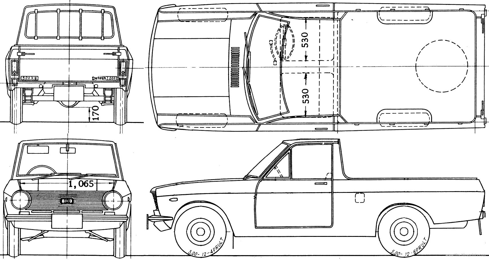 Blueprints Gt Cars Gt Datsun Gt Datsun B20 Pick Up