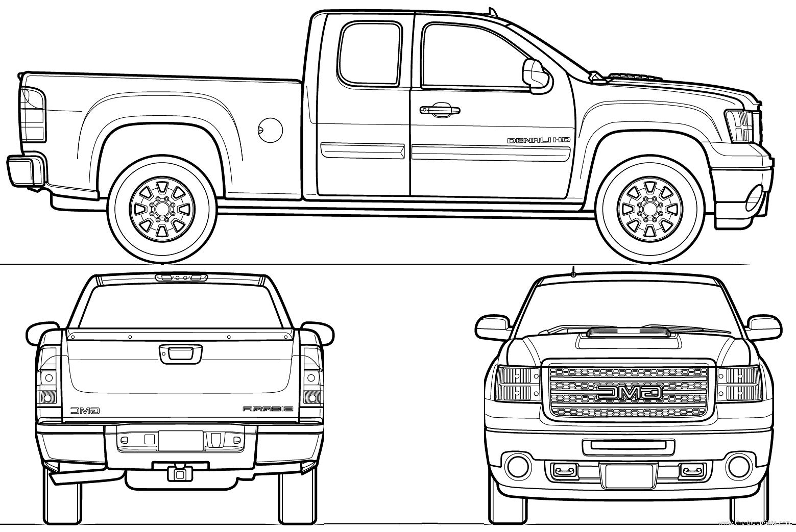 Blueprints Gt Cars Gt Gmc Gt Gmc Sierra Denali Hd