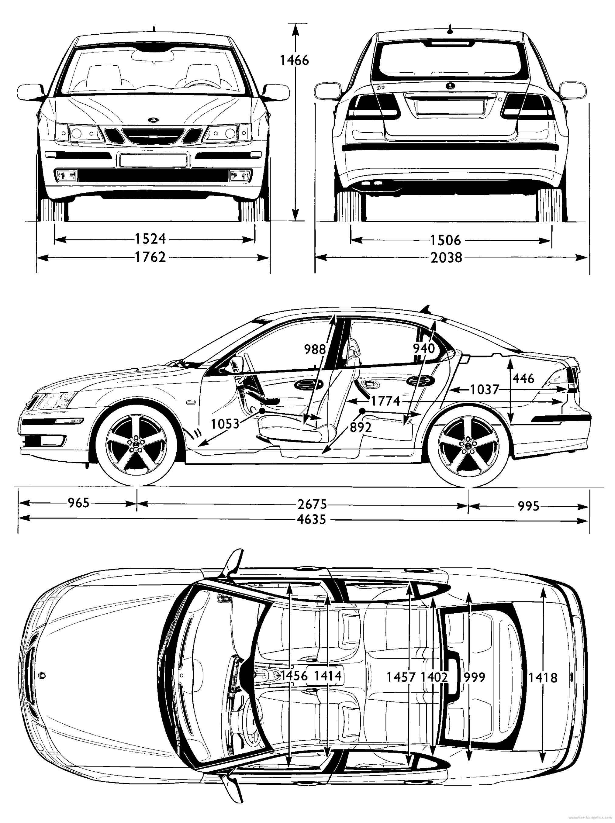 Blueprints Gt Cars Gt Saab Gt Saab 9 3 Aero