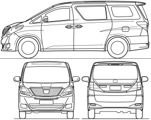 Blueprints > Cars > Toyota > Toyota Alphard (2015)