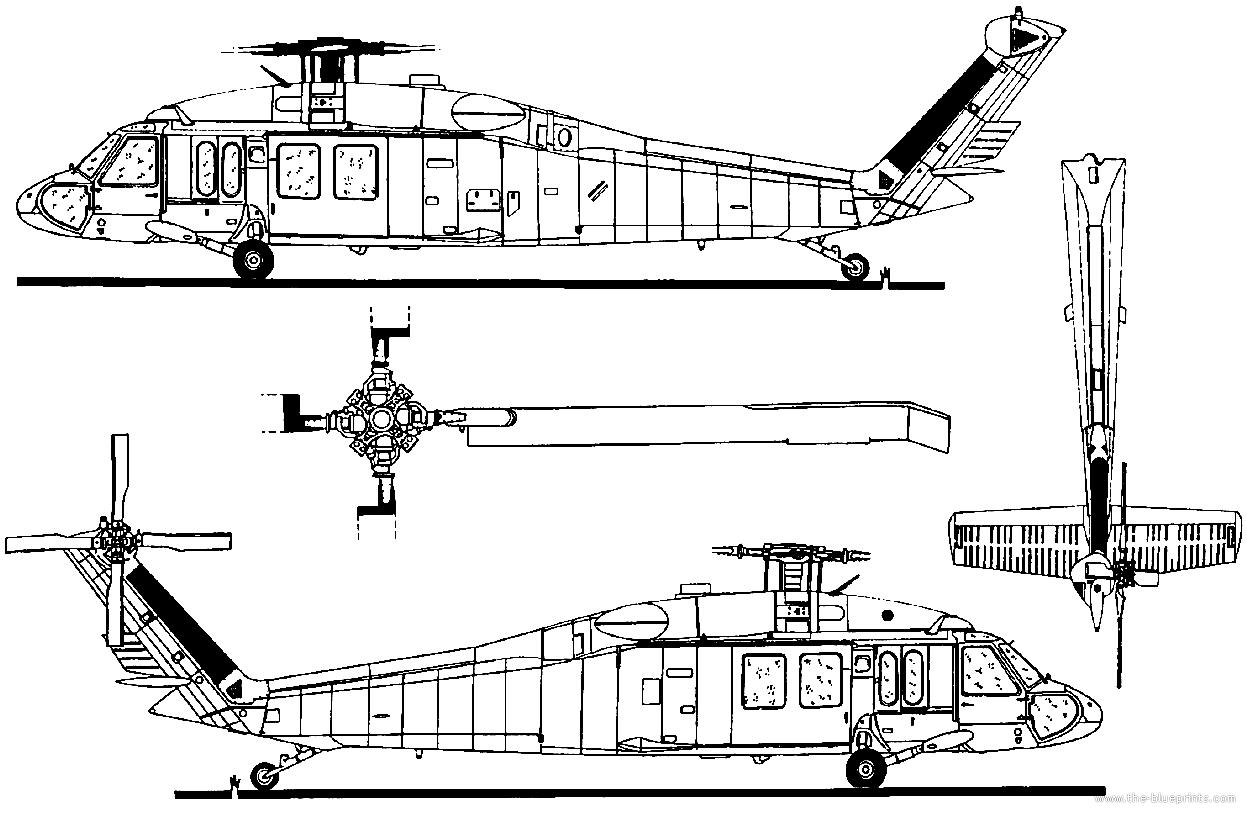 Blueprints Gt Helicopters Gt Sikorsky Gt Sikorsky Uh 60a